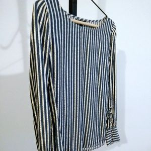 Express Striped Long Sleeved Blouse